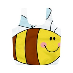 Animals Bee Wasp Smile Face Full Print Recycle Bags (m)