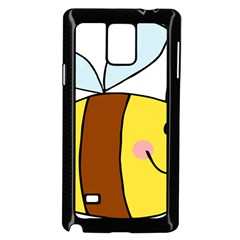 Animals Bee Wasp Smile Face Samsung Galaxy Note 4 Case (black)