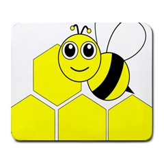 Bee Wasp Yellow Large Mousepads