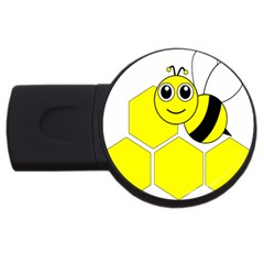Bee Wasp Yellow Usb Flash Drive Round (4 Gb)