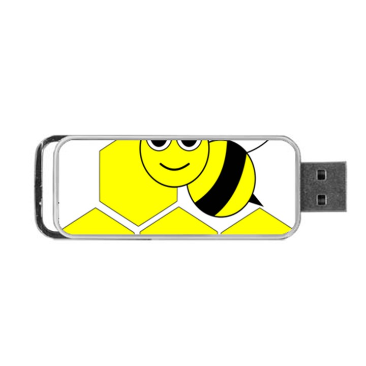 Bee Wasp Yellow Portable USB Flash (Two Sides)