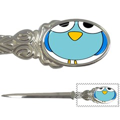 Bird Big Eyes Blue Letter Openers
