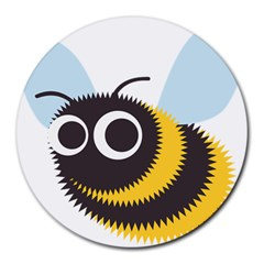 Bee Wasp Face Sinister Eye Fly Round Mousepads