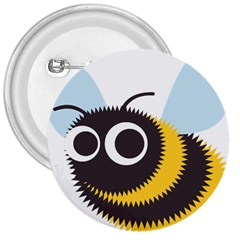 Bee Wasp Face Sinister Eye Fly 3  Buttons