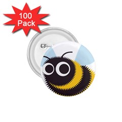 Bee Wasp Face Sinister Eye Fly 1 75  Buttons (100 Pack)