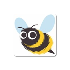 Bee Wasp Face Sinister Eye Fly Square Magnet