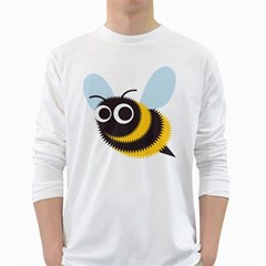 Bee Wasp Face Sinister Eye Fly White Long Sleeve T Shirts