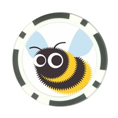 Bee Wasp Face Sinister Eye Fly Poker Chip Card Guard