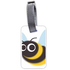 Bee Wasp Face Sinister Eye Fly Luggage Tags (One Side)