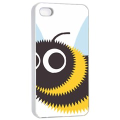 Bee Wasp Face Sinister Eye Fly Apple Iphone 4/4s Seamless Case (white)