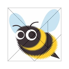 Bee Wasp Face Sinister Eye Fly Acrylic Tangram Puzzle (6  x 6 )