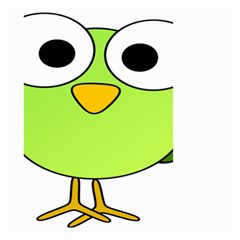 Bird Big Eyes Green Small Garden Flag (two Sides)