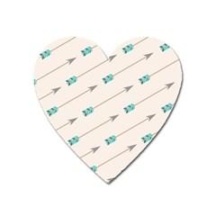 Arrow Quilt Heart Magnet