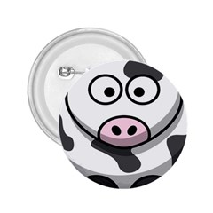 Animals Cow  Face Cute 2 25  Buttons