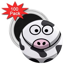 Animals Cow  Face Cute 2 25  Magnets (100 Pack)
