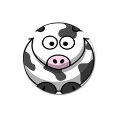 Animals Cow  Face Cute Magnet 3  (round)