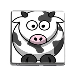 Animals Cow  Face Cute Memory Card Reader (Square)