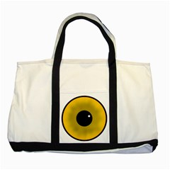 Big Eye Red Black Two Tone Tote Bag