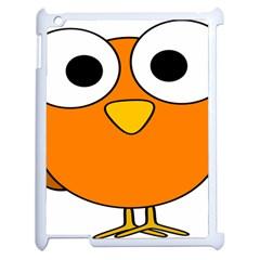 Bird Big Eyes Orange Apple Ipad 2 Case (white)