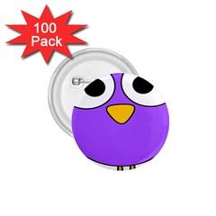 Bird Big Eyes Purple 1 75  Buttons (100 Pack)
