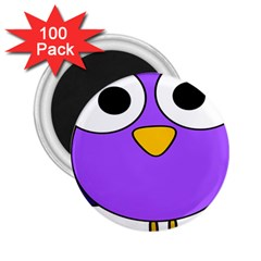 Bird Big Eyes Purple 2.25  Magnets (100 pack)