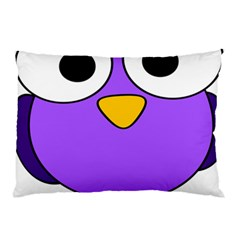 Bird Big Eyes Purple Pillow Case (two Sides)