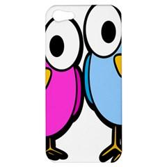 Bird Big Eyes Pink Blue Apple iPhone 5 Hardshell Case