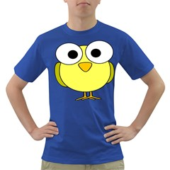 Bird Big Eyes Yellow Green Dark T Shirt