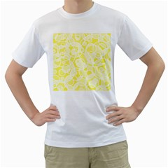 Pattern Men s T-Shirt (White) (Two Sided)