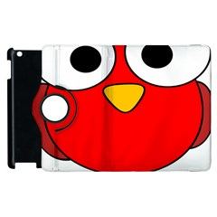 Bird Big Eyes Red Apple iPad 3/4 Flip 360 Case
