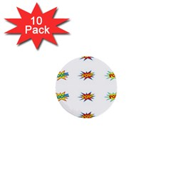 Boom Pow Pop Sign 1  Mini Buttons (10 Pack)