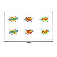 Boom Pow Pop Sign Business Card Holders