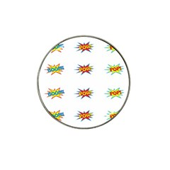 Boom Pow Pop Sign Hat Clip Ball Marker (4 Pack)