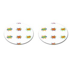 Boom Pow Pop Sign Cufflinks (oval)