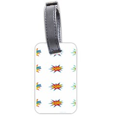 Boom Pow Pop Sign Luggage Tags (Two Sides)