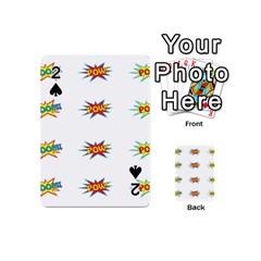 Boom Pow Pop Sign Playing Cards 54 (mini)