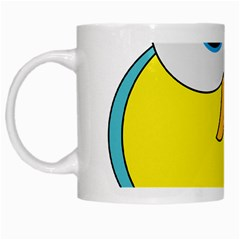 Bird Big Eyes Yellow White Mugs