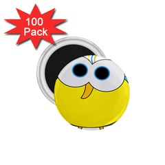 Bird Big Eyes Yellow 1 75  Magnets (100 Pack)
