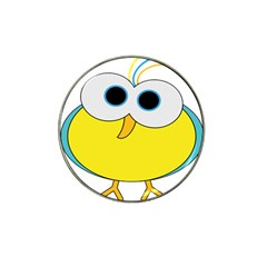 Bird Big Eyes Yellow Hat Clip Ball Marker (10 Pack)