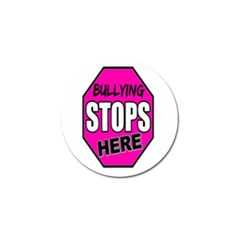 Bullying Stops Here Pink Sign Golf Ball Marker (4 Pack)