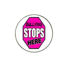 Bullying Stops Here Pink Sign Hat Clip Ball Marker (10 pack)