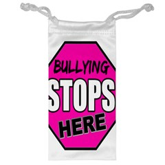 Bullying Stops Here Pink Sign Jewelry Bag
