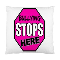 Bullying Stops Here Pink Sign Standard Cushion Case (one Side)