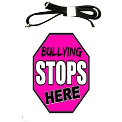 Bullying Stops Here Pink Sign Shoulder Sling Bags