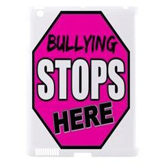 Bullying Stops Here Pink Sign Apple iPad 3/4 Hardshell Case (Compatible with Smart Cover)