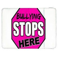 Bullying Stops Here Pink Sign Samsung Galaxy Tab 7  P1000 Flip Case