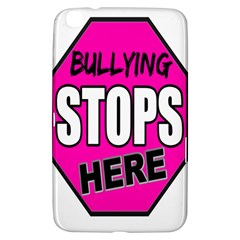Bullying Stops Here Pink Sign Samsung Galaxy Tab 3 (8 ) T3100 Hardshell Case