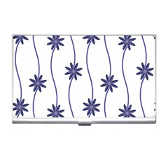 Geometric Flower Seamless Repeating Pattern With Curvy Lines Business Card Holders