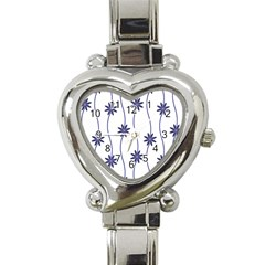 Geometric Flower Seamless Repeating Pattern With Curvy Lines Heart Italian Charm Watch