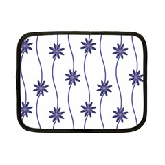 Geometric Flower Seamless Repeating Pattern With Curvy Lines Netbook Case (small)